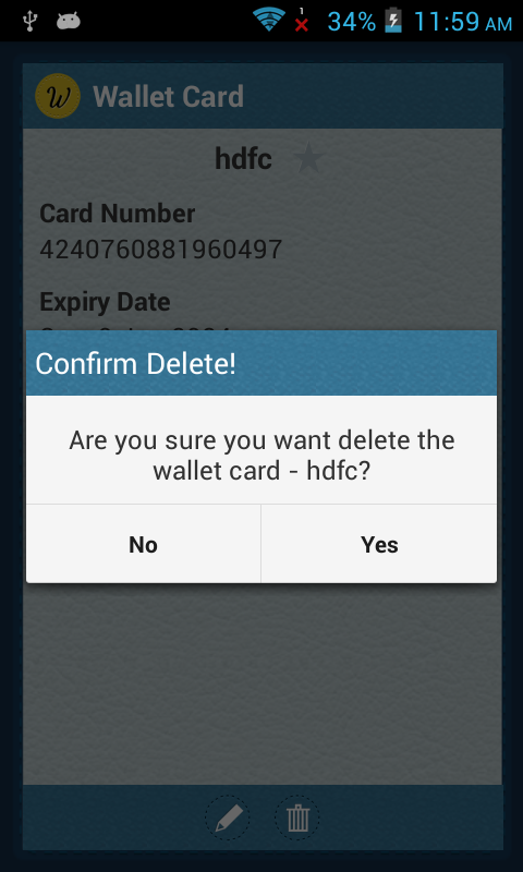Deleting Card Type
