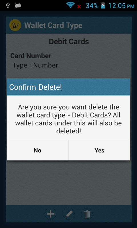 Delete Card Type